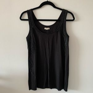 Silence + Noise Tank Top Size Small Beading